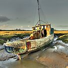 Boat at Sunderland Point, Lancashire by Steve  Liptrot