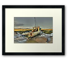 Boat at Sunderland Point, Lancashire Framed Print