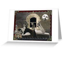 Sabina and the Full Moon Greeting Card