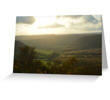 Hole of Horcum in the twilight zone Greeting Card