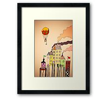 Quirky Town Framed Print