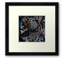 Abstract Pony on the Carousel  Framed Print