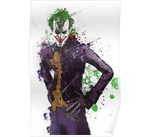 """""""The Joker"""" Splatter Art Poster"""