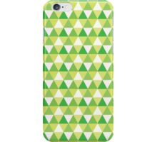 Green Triangle Abstract Pattern iPhone Case/Skin