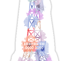 Flower Eiffel Tower Paris Sticker