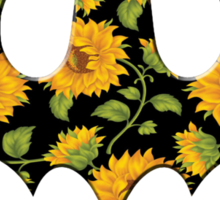 Sunflower Batman Sticker