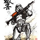 Stormtrooper with calligraphy by Mycks