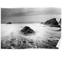 Smoke on the Water, Cornwall England Poster