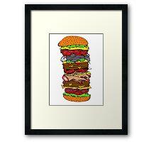 Ze Ultimate Burger Framed Print