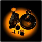 Bottle and Carafe in Orange Light by andreisky