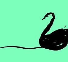 Green swan by mentalark