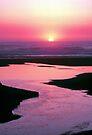 SUNSET,CALIFORNIA COAST by Chuck Wickham