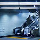 Tokyo Escalator by Stuart Wilson