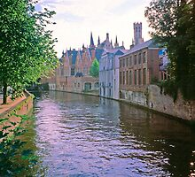 Bruges Canal at Sundown 2002 by Priscilla Turner