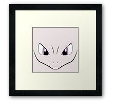 Mewtwo face Framed Print