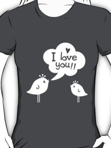 Love Birds White T-Shirt