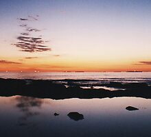 Cloud reflections, Merewether Beach by cosmiccow