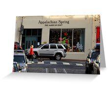 A walk through Georgetown Greeting Card