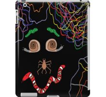 Psychedelically Glowing Spider Webs & Garden Critters iPad Case/Skin