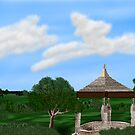 Pasture and Gazebo by Sandra Chung