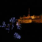 Edinburgh Castle and Christmas Trees by Linda More