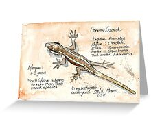 Lizards - Not so easy! Greeting Card