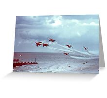 So Low - The Red Arrows, Broadstairs Kent -  1979 Greeting Card