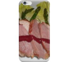 Stake and vegetables. iPhone Case/Skin