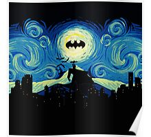 Starry Knight Gotham City Poster