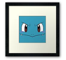 Squirtle face Framed Print