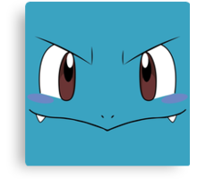 Squirtle face Canvas Print