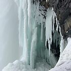 Under The Falls In Winter by Monica Vanzant