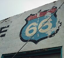 Old 66 Shield New Mexico by Paul Butler