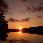 sunset loch  by SnappyMatt
