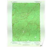 Maine USGS Historical Map Speckled Mountain 807189 1970 24000 Poster