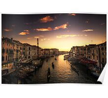 The marching gondolas Poster