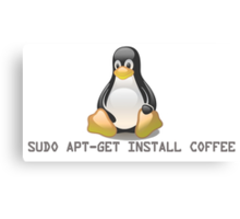 Linux - Get Install Coffee. Canvas Print