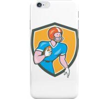 American Football Player Rusher Shield Retro iPhone Case/Skin
