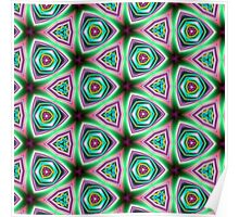 Psychedelic Neon Pillow cover/Tote Bag design. Poster