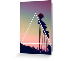 Palm Trees - Triangle Greeting Card
