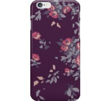 Pixel Floral Leggings iPhone Case/Skin
