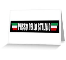 Passo Dello Stelvio Cycling Shirt Greeting Card