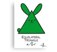 Equilateral Triangle GeoBunny Canvas Print