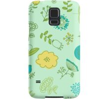 Elegance Seamless pattern with flowers, vector floral illustration in vintage style Samsung Galaxy Case/Skin