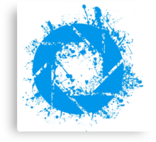 Portal Aperture Science Splatter Logo Canvas Print
