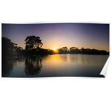 Boort Lakes at Sunrise Poster