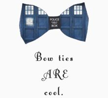 """""""Bow Ties ARE Cool."""" - Dr. Who (image + quote) Kids Clothes"""