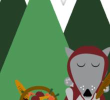 wolf picnic Sticker