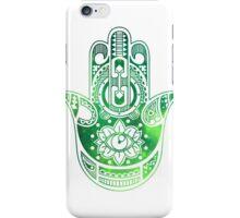 Green Hamsa Hand iPhone Case/Skin