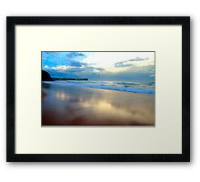 Night Fall - Warriewood Beach - The HDR Series Framed Print